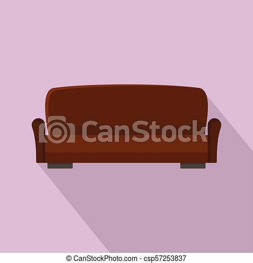 ícone, sofá, lawson, estilo, apartamento - csp57253837