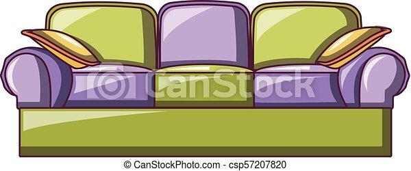 ícone, sofá, lawson, estilo, caricatura - csp57207820