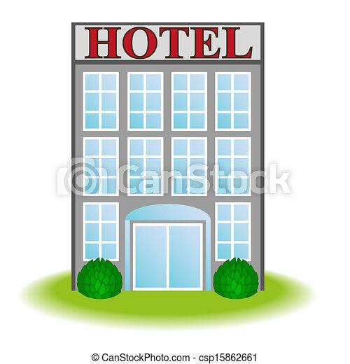 ícone, vetorial, hotel - csp15862661