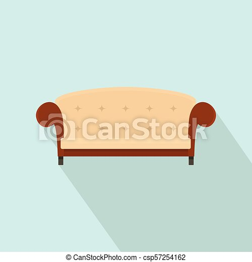 ícone, vindima, estilo, sofá, apartamento - csp57254162