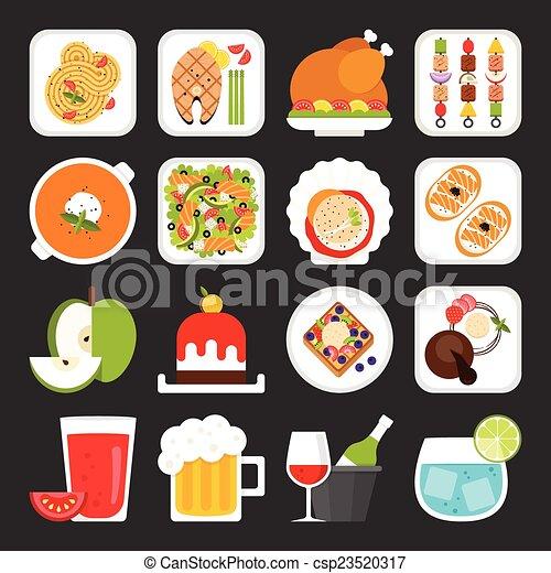 ícones alimento - csp23520317