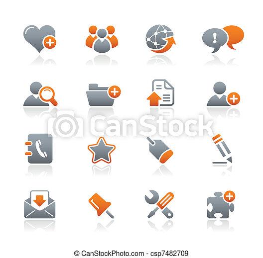 &, ícones, /, blog, grafita, internet - csp7482709