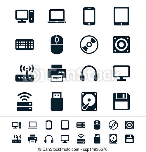 ícones computador - csp14936678