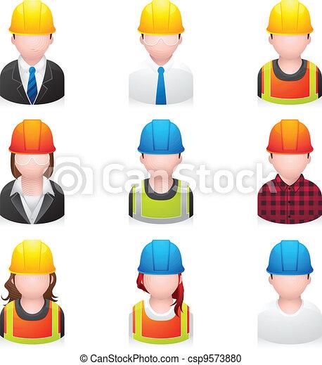 ícones, construção, pessoas, - - csp9573880