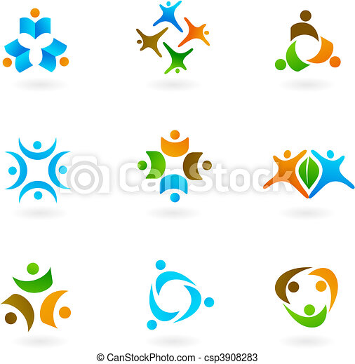 ícones, human, 1, logotipos - csp3908283