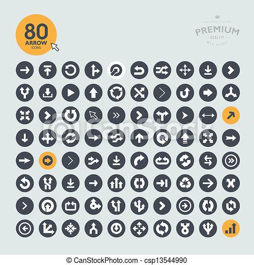 ícones, jogo, seta - csp13544990