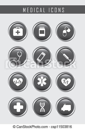 ícones médicos - csp11503816