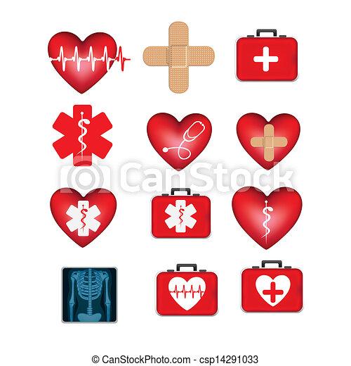 ícones médicos - csp14291033