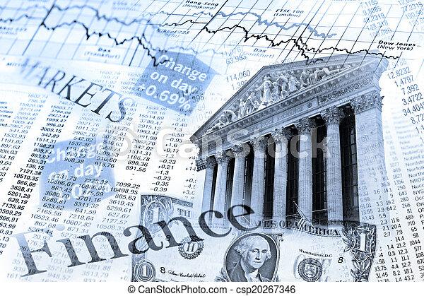 El índice de acciones de NYSE y la mesa de cambio - csp20267346