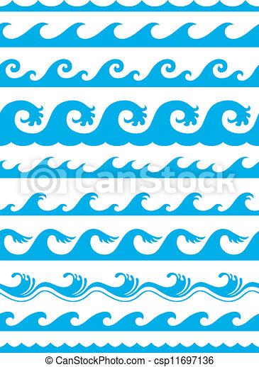 óceán, állhatatos, seamless, lenget - csp11697136
