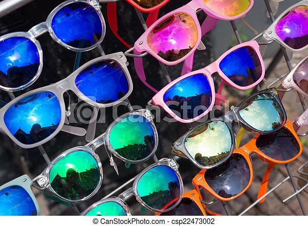 36bd38861 Óculos de sol, venda. Estilo, óculos de sol, retro, frente ...