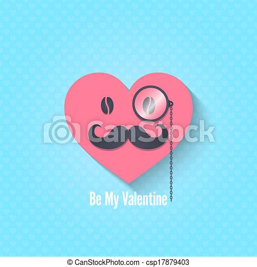 óculos, personagem, dia, fundo, valentines - csp17879403