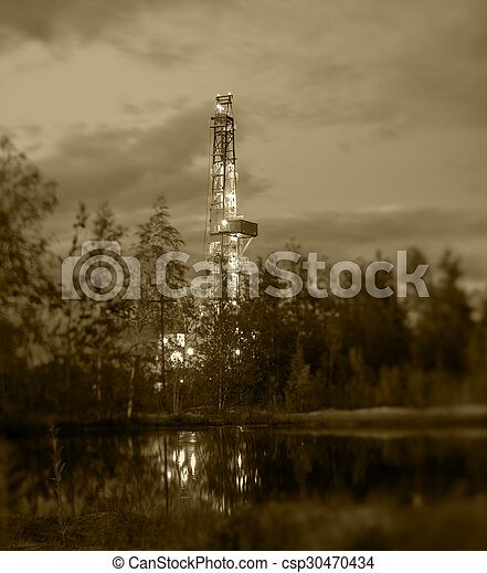 óleo, rig., perfurar - csp30470434