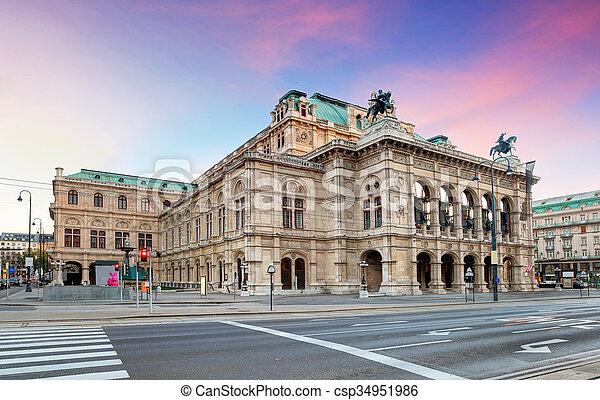 La ópera de Viena, Austria - csp34951986