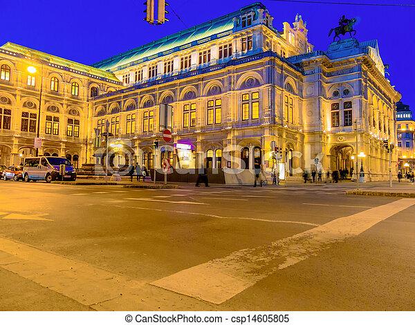 Viena. Austria. Opera - csp14605805