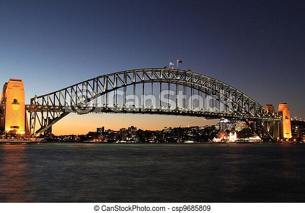 Desde el primer plano de la ópera de Sydney. - csp9685809