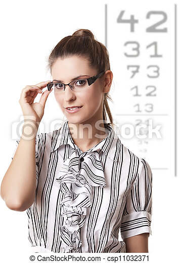En el óptico - csp11032371