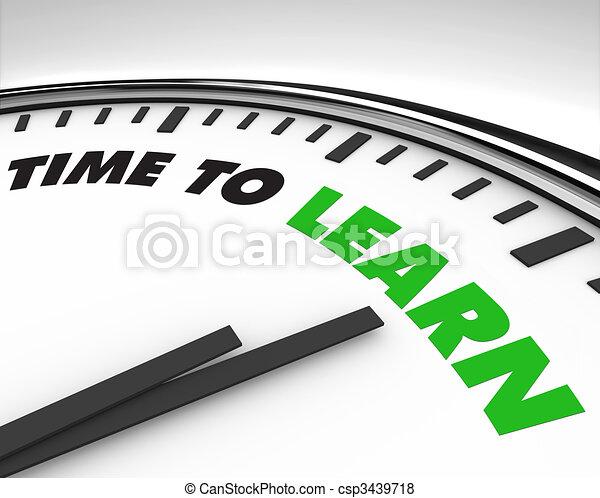 óra, -, idő, tanul - csp3439718
