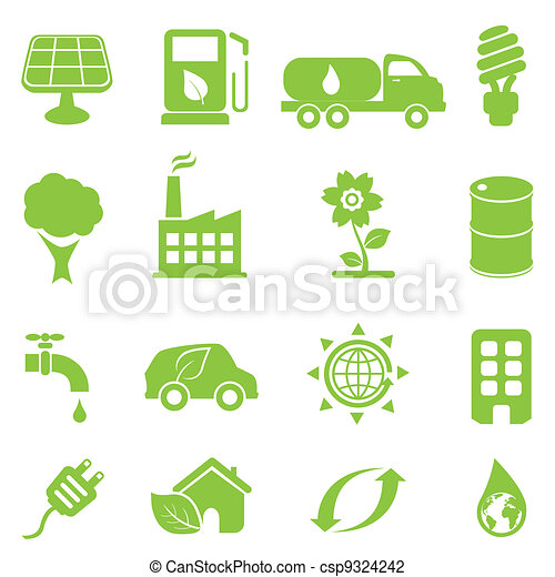 ökológia, állhatatos, ikon - csp9324242