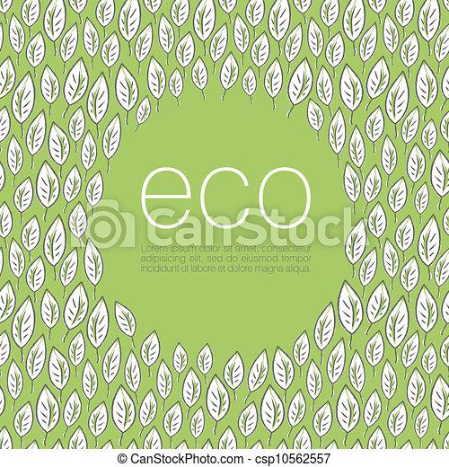 ökologie, eps10, abbildung, plakat, hintergrund., vektor, design - csp10562557