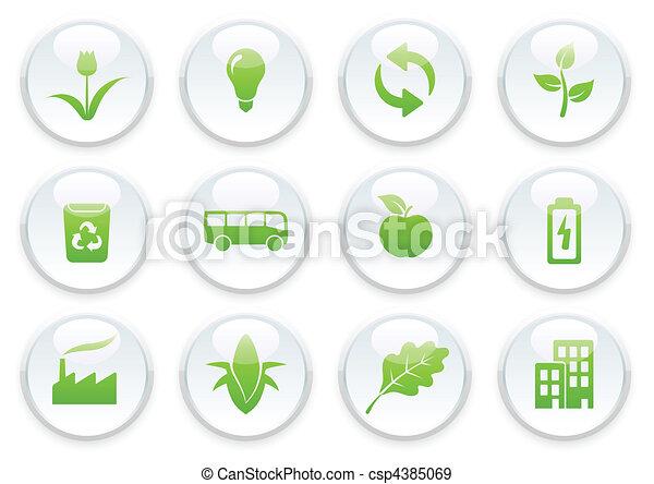 ökologie, satz, ikone - csp4385069
