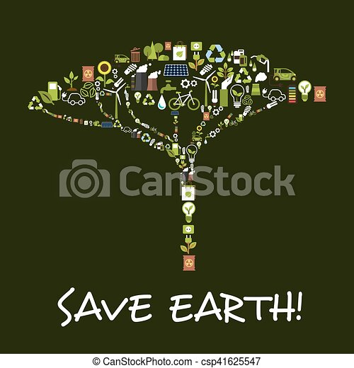 Ökologie symbol, umwelt, schutz, erde, retten. Ökologie, energie ...