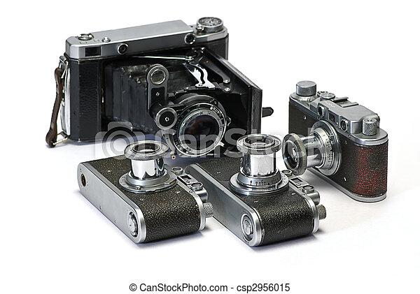öreg, cameras, fénykép - csp2956015