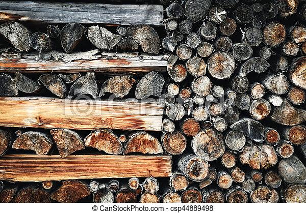 öreg, erdő, kandalló - csp44889498