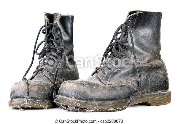 öreg, koszos, cipők - csp2280073