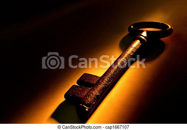 öreg, kulcs - csp1667107