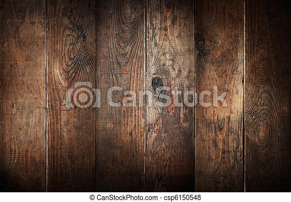 öreg, viharvert, elvont, háttér., erdő, planks. - csp6150548