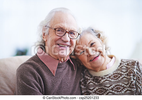 öregedő, férj, feleség - csp25201233