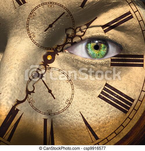 öregedő, fogalom, vagy, bio, óra - csp9916577