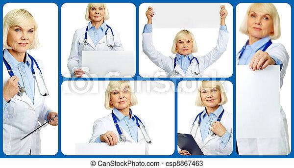 öregedő, orvos - csp8867463