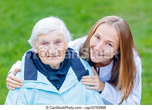 öregedő törődik - csp16793998