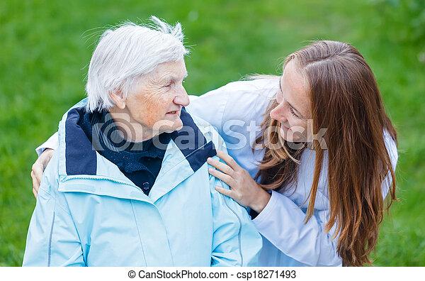 öregedő törődik - csp18271493