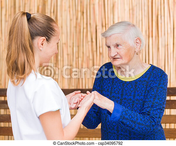 öregedő törődik - csp34095792