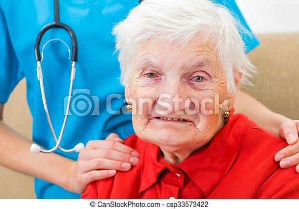 öregedő törődik - csp33573422