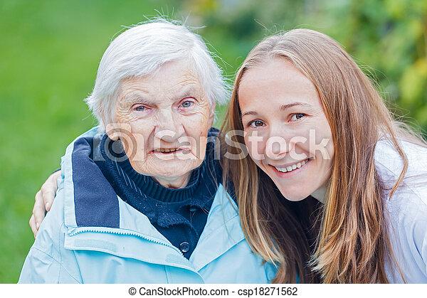 öregedő törődik - csp18271562