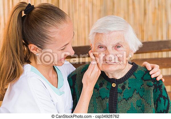öregedő törődik - csp34928762