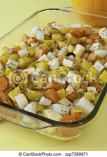 ört, grönsaken, rot, steket - csp7399971