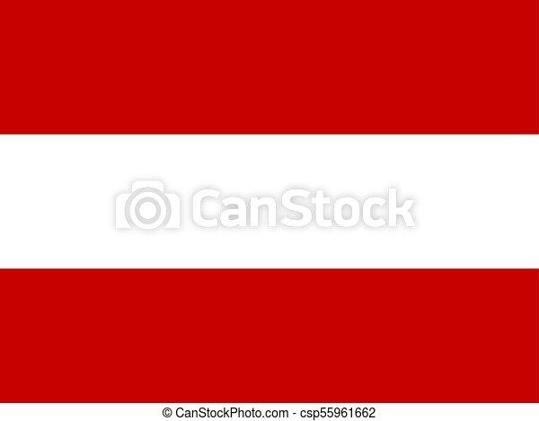 österreich Fahne Vektor Illustration Symbol Abbildung Fahne