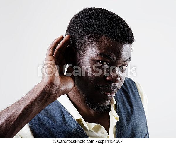 övé, fog, kéz, amerikai, valami, kihallgatás, afrikai, fül - csp14154507