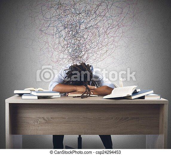 över, böcker, man, drömma - csp24294453