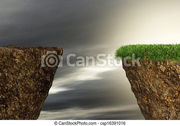 över, klippor, två, svalg - csp16391016