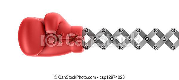 överraskning, boxning handske - csp12974023