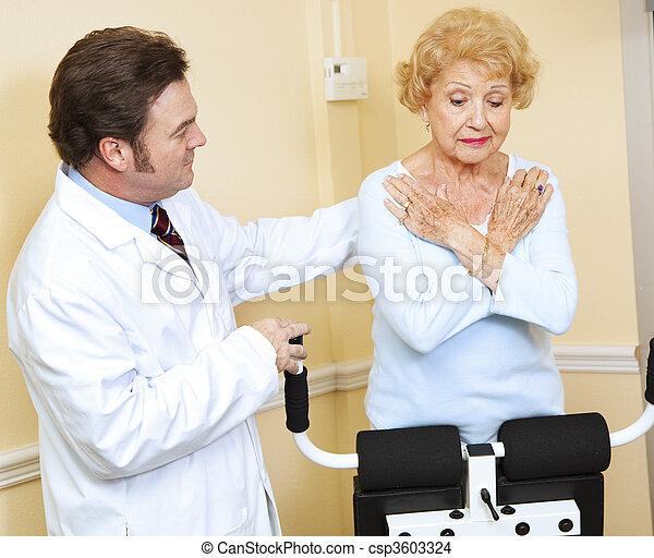 övervaka, läkare, terapi, fysisk - csp3603324