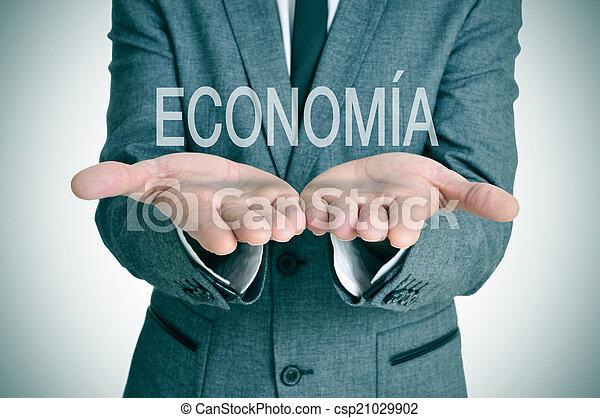 økonomi, economia, spansk - csp21029902