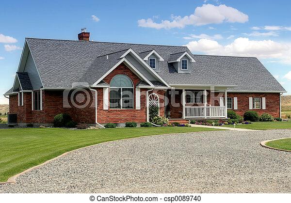 új, amerikai, otthon - csp0089740