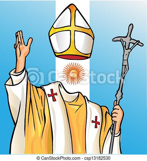 új, argentina lobogó, pápa - csp13182530